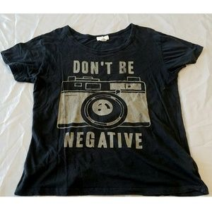 Don't be Negative Film Camera Shirt Photographer L